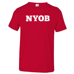 red NYOB crewneck t shirt for toddlers
