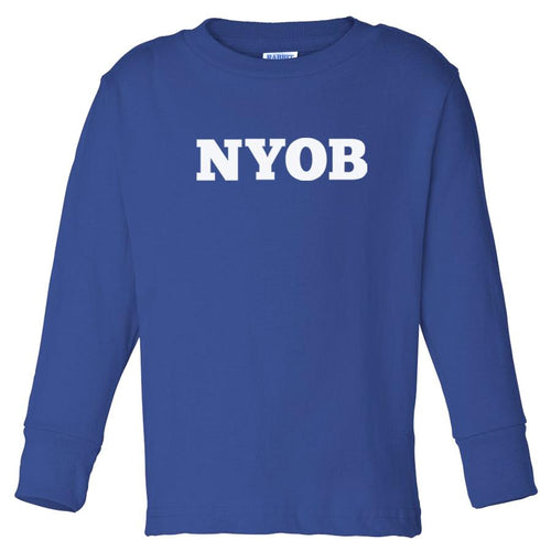 blue NYOB long sleeve t shirt for toddlers