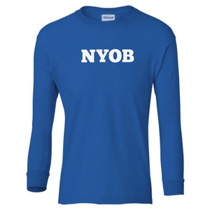 blue NYOB youth long sleeve t shirt for boys