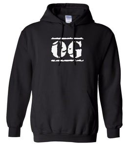 black OG hooded sweatshirt for women