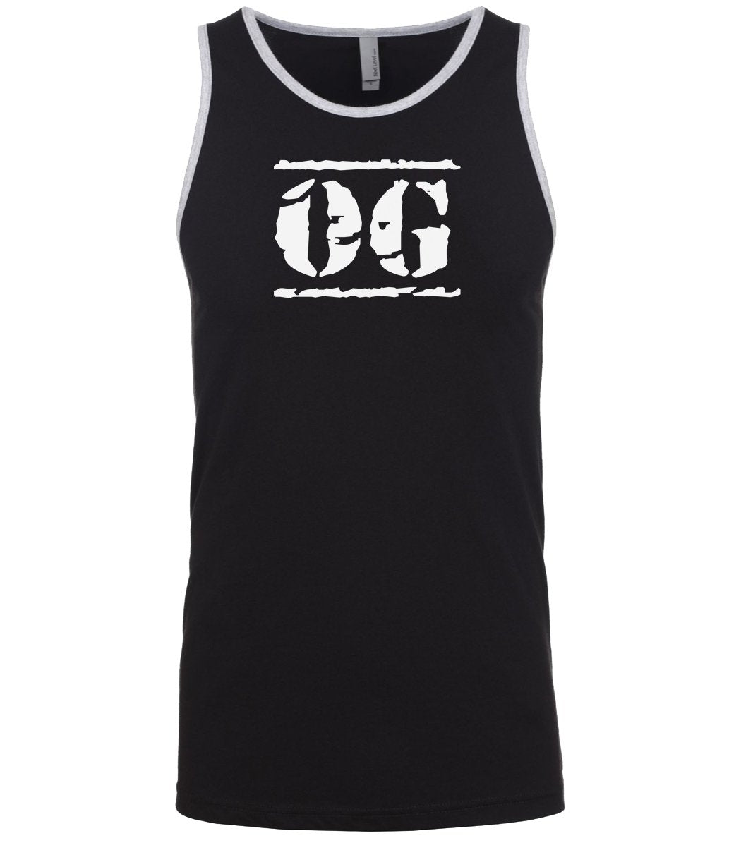 black og mens tank top
