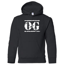 Load image into Gallery viewer, black OG youth hooded sweatshirt for boys