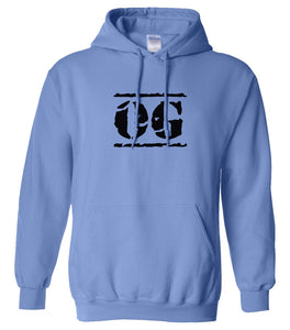 blue OG hooded sweatshirt for women