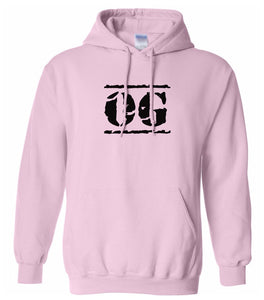 pink OG hooded sweatshirt for women