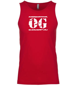 red og mens tank top