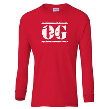 Load image into Gallery viewer, red OG youth long sleeve t shirt for boys