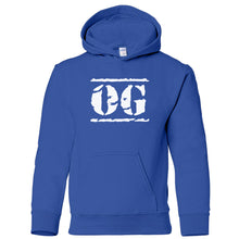 Load image into Gallery viewer, blue OG youth hooded sweatshirt for boys