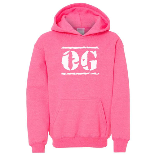 pink OG youth hooded sweatshirts for girls