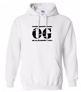 white OG hooded sweatshirt for women
