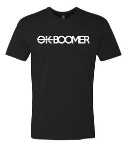 black ok boomer t-shirt