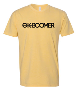 yellow ok boomer t-shirt