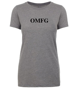 grey omfg womens crewneck t shirt