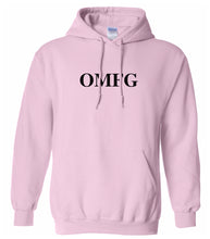 Load image into Gallery viewer, pink OMFG hooded sweatshirt for women