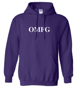 purple OMFG hooded sweatshirt for women