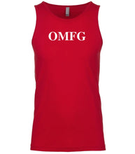 Load image into Gallery viewer, red omfg mens tank top