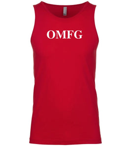 red omfg mens tank top