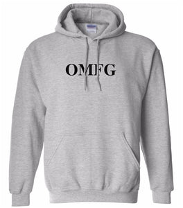 grey OMFG hooded sweatshirt for women