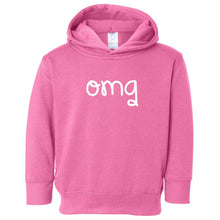 Load image into Gallery viewer, pink OMG hooded sweatshirt for toddlers