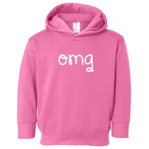 pink OMG hooded sweatshirt for toddlers