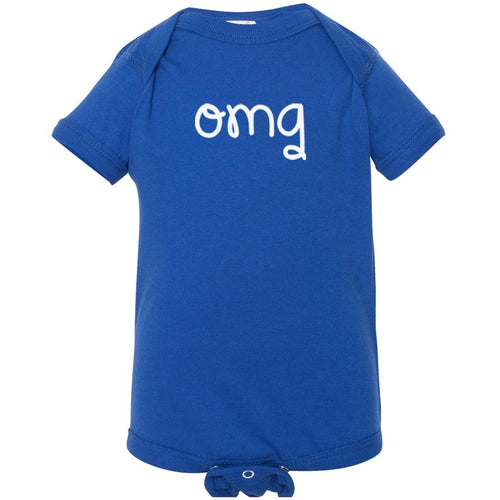 blue OMG onesie for babies