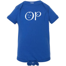 Load image into Gallery viewer, blue OP onesie for babies