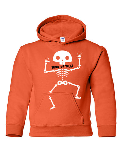 trick or treat halloween youth hoodie