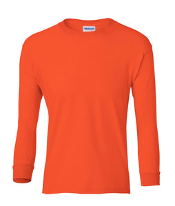 orange youth long sleeve t shirt