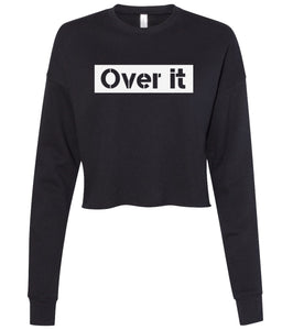 black over it cropped sweatshirt