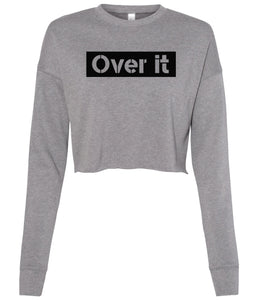 grey over it cropped sweatshirt