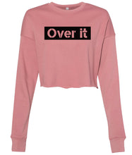 Load image into Gallery viewer, mauve over it cropped sweatshirt
