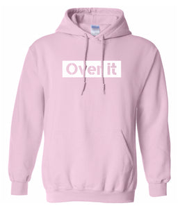 pink over it hoodie