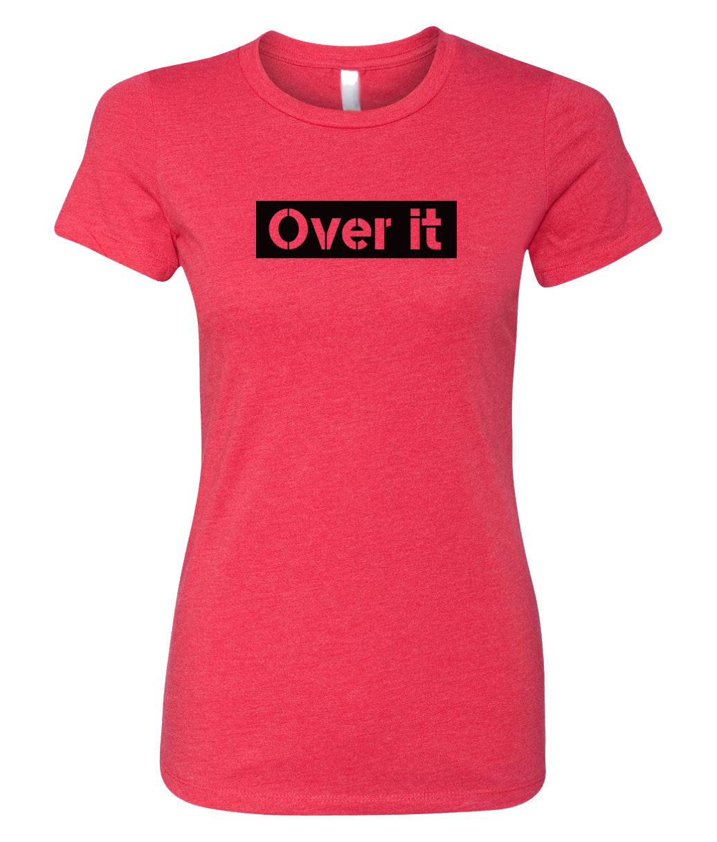 red over it crewneck women's t shirt