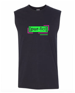 florescent green perfect men's sleeveless tee tank top