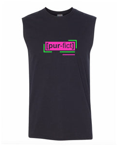 florescent pink perfect men's sleeveless tee tank top