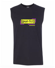 Load image into Gallery viewer, florescent yellow perfect men's sleeveless tee tank top