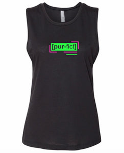 florescent green perfect neon streetwear tank top for women