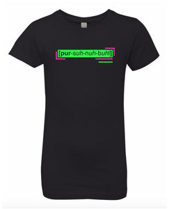 florescent green personable neon streetwear t shirt for girls