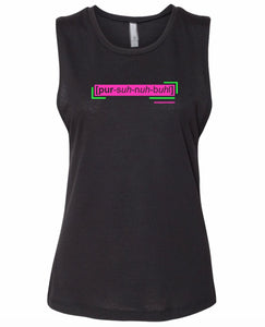 florescent pink personable neon streetwear tank top for women