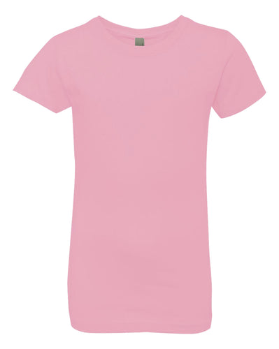 pink girls crewneck t shirt