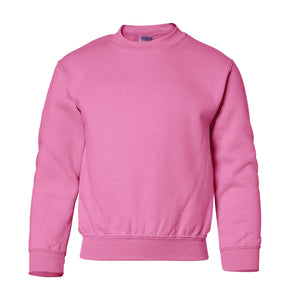 pink youth crewneck sweatshirt
