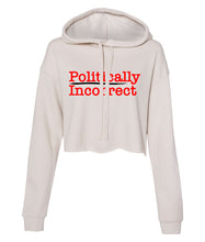 Load image into Gallery viewer, dust politically incorrect cropped hoodie