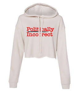 dust politically incorrect cropped hoodie