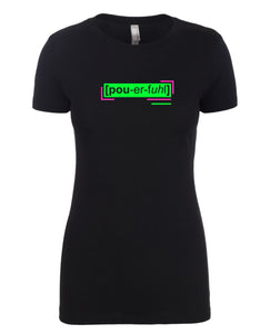florescent green powerful neon streetwear t shirt for women