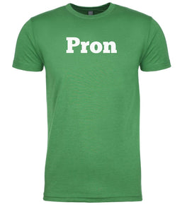 green pron mens crewneck t shirt