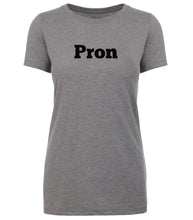 Load image into Gallery viewer, grey pron womens crewneck t shirt