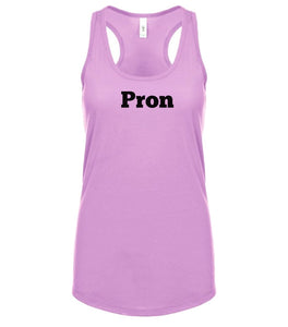 pink PRON racerback tank top for women