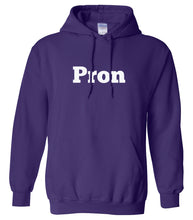 Load image into Gallery viewer, purple PRON hooded sweatshirt for women