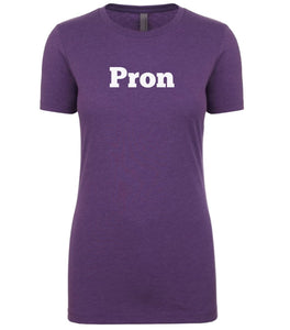 purple pron womens crewneck t shirt