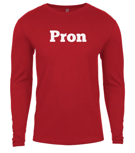red pron mens long sleeve shirt