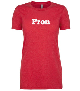 red pron womens crewneck t shirt